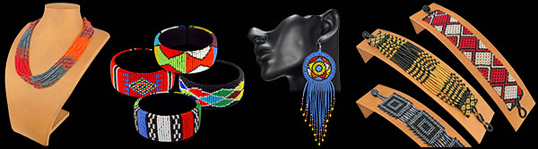 African Beaded Necklaces, Bangles, Bracelets, Earrings